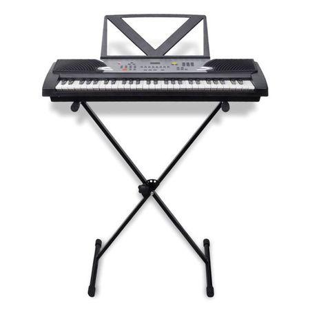 Orgă electronică, 54 taste, cu suport partitură și cadru reglabil