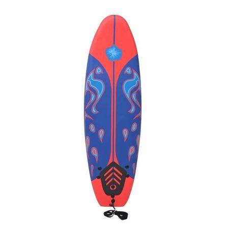 Placă de surf, albastru și roșu, 170 cm