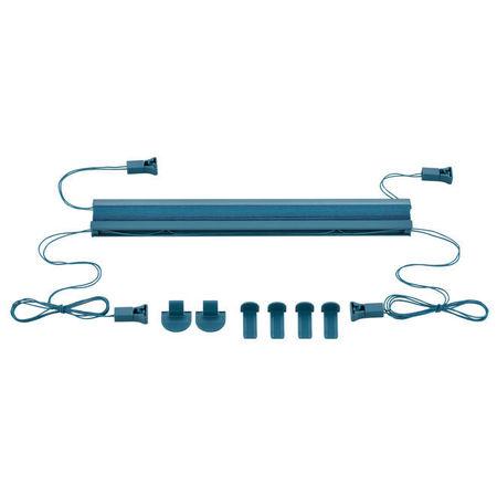 Roleta / perdea plisata - 70x100 cm - albastru turcoaz- protectie impotriva luminii si a soarelui - jaluzea - fara gaurire