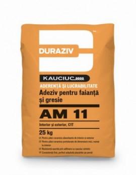 Adeziv pentru faianță și gresie, aditivat cu Kauciuc DURAZIV AM11