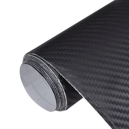 Autocolant folie din fibră de carbon 3D Negru 152 x 500 cm