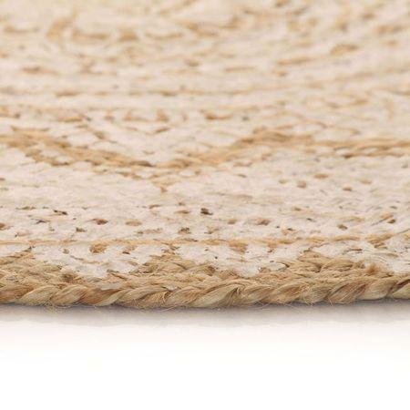 Covor din iută împletită cu imprimeu, 150 cm, rotund