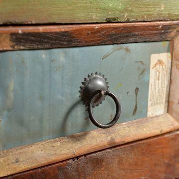 Dulap din lemn masiv reciclat cu 4 setare