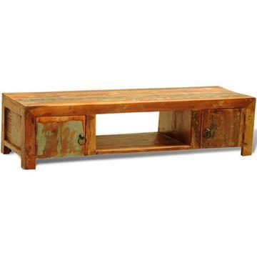 Dulap pentru televizor cu două uși din lemn reciclat în stil vintage