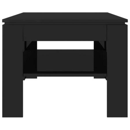 Măsuță de cafea, negru lucios, 110 x 60 x 47 cm, PAL