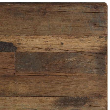 Măsuță cafea Opium, 110 x 60 x 35 cm, lemn din traverse & oțel