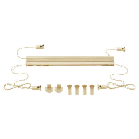 Roleta armonica / perdea plisata - 60 x 125 cm - crem - protectie impotriva luminii si a soarelui - jaluzea - fara gaurire