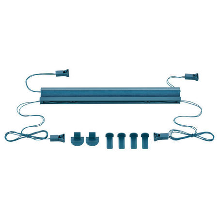 Roleta / perdea plisata - 90x100 cm - albastru turcoaz- protectie impotriva luminii si a soarelui - jaluzea - fara gaurire