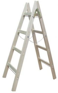 Scara Lemn Dubla cu Lant cu 3 trepte - H = 1 m