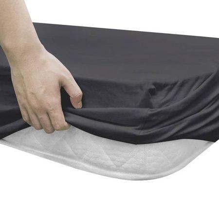 vidaXL Husă de pat cu apă, 2 buc, antracit, 2 x 2,2 m, bumbac jerseu