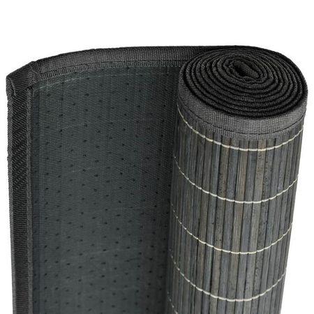 Covor din bambus 195 x 300 cm Gri