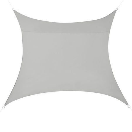 [en.casa]® Copertina Sonnensegel pentru soare sau vant, 3 x 3 m, poliester/poliuretan, gri deschis