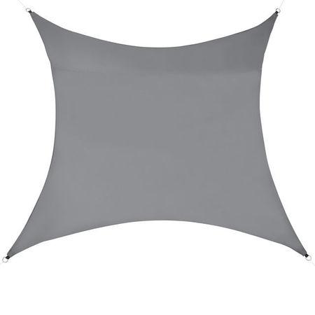 [en.casa]® Copertina Sonnensegel pentru soare sau vant, 4 x 4 m, poliester/poliuretan, gri inchis