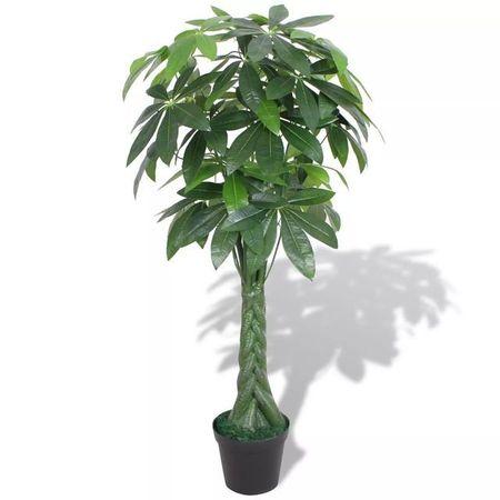 Plantă artificială Arborele norocos cu ghiveci 145 cm, verde