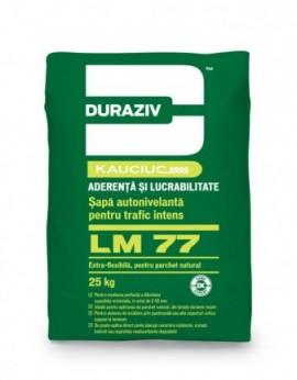 Șapă autonivelantă pentru trafic intens, aditivată cu kauciuc Duraziv LM 77 - 25 kg