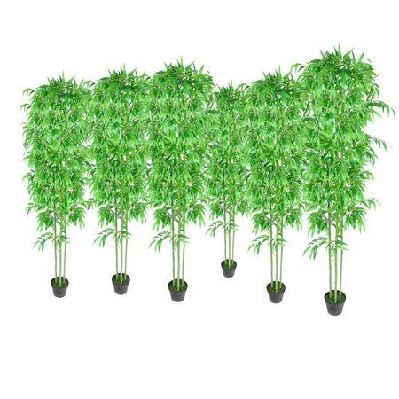 Set 6 decorațiuni plante bambus artificiale