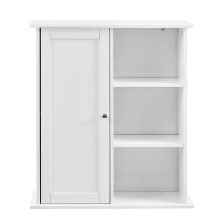 Dulap de perete Emilia pentru camera de baie, 71 x 60 x 18 cm, placa MDF, lacuit, alb