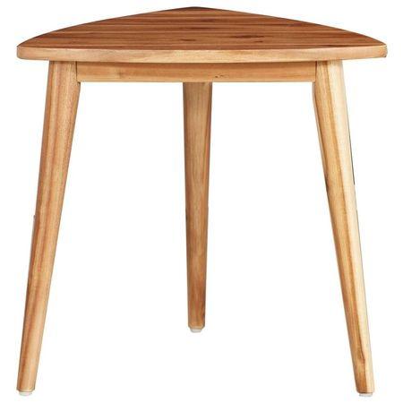 Mese suprapuse, 2 buc., lemn masiv de acacia