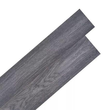 Plăci de pardoseală autoadezive, PVC, 5,02 m², negru și alb