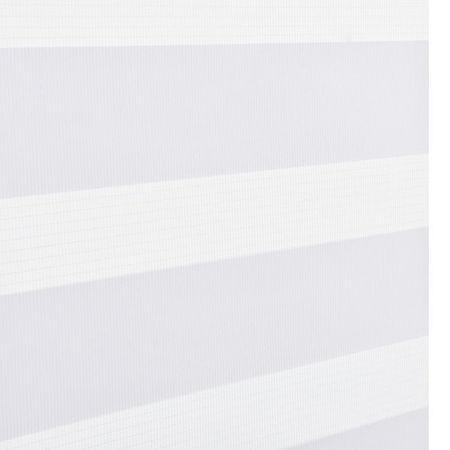 Roleta dubla (zebra) - protectie lumina - jaluzea - fara gaurire (40x150cm) alb