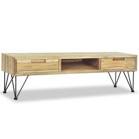 Comodă TV 120 x 35 x 35 cm, lemn tec masiv