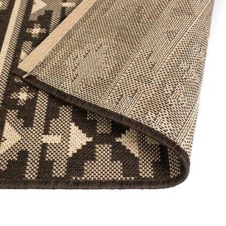 Covor aspect sisal de interior/exterior 180x280 cm design etnic