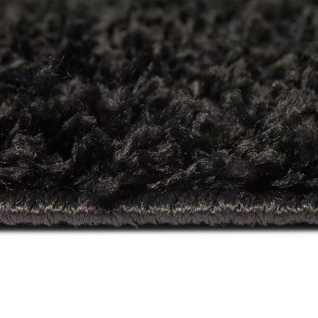 Covor cu fir lung 120x170 cm Negru
