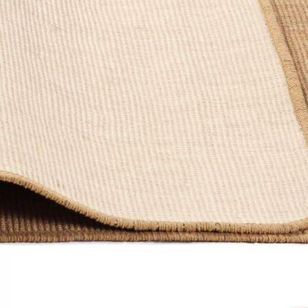 Covor de iută cu suport din latex, 140x200 cm, Natural