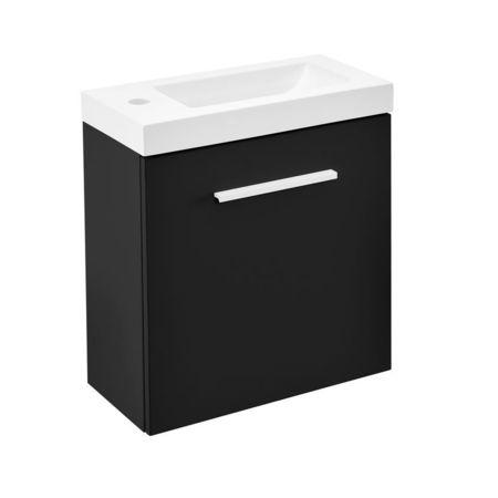 Dulap baie cu lavoar incorporat, 520 x 450 x 230 mm, negru