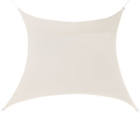 [en.casa]® Copertina Sonnensegel pentru soare sau vant, 4 x 4 m, poliester/poliuretan, culoarea nisipului
