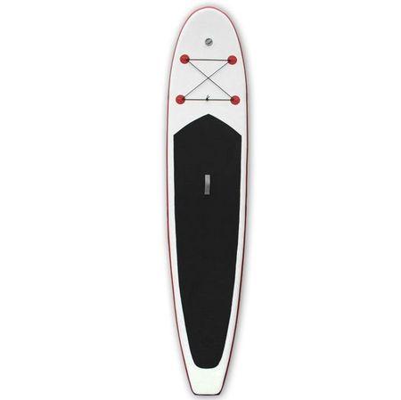 Set placă de stand up paddle SUP surf gonflabilă, roșu și alb