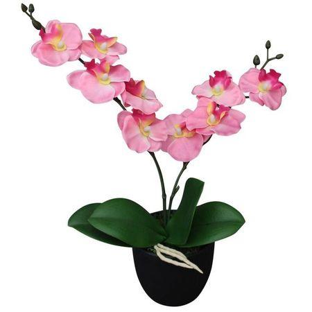 Orhidee artificială cu ghiveci, 30 cm, roz