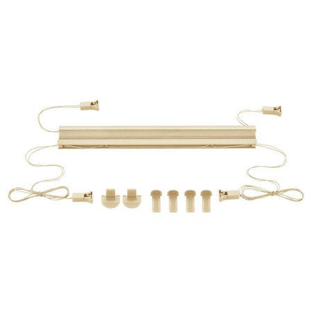 Roleta armonica / perdea plisata - 45 x 125 cm - crem - protectie impotriva luminii si a soarelui - jaluzea - fara gaurire