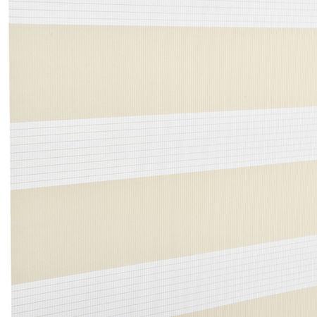 Roleta dubla (zebra) - protectie lumina - jaluzea - fara gaurire (140x230cm) bej