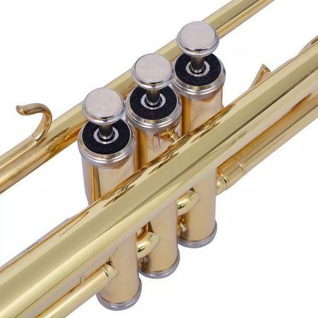 Trompetă acordată în Bb, alamă galbenă cu luciu auriu