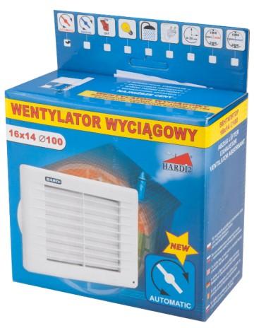Ventilator cu Jaluzea Automata  125x160x180 - 671200