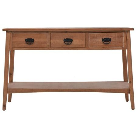 vidaXL Masă consolă, maro, 126 x 40 x 77,5 cm, lemn masiv de brad