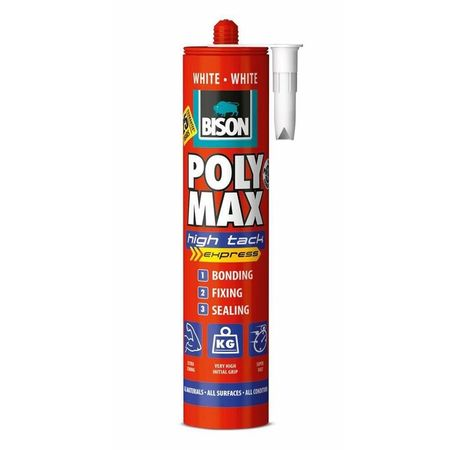 BISON Poly Max High Tack Express alb MS polimer 425g