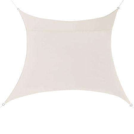 [en.casa]® Copertina Sonnensegel pentru soare sau vant, 5 x 5 m, poliester/poliuretan, culoarea nisipului