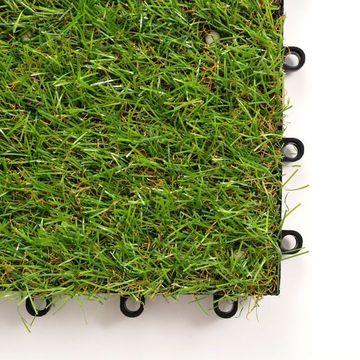 Plăci de iarbă artificială, 20 buc, 30x30 cm, Verde