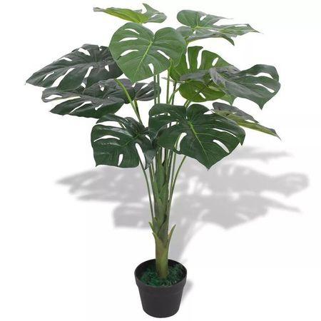 Plantă artificială Monstera cu ghiveci 70 cm, verde