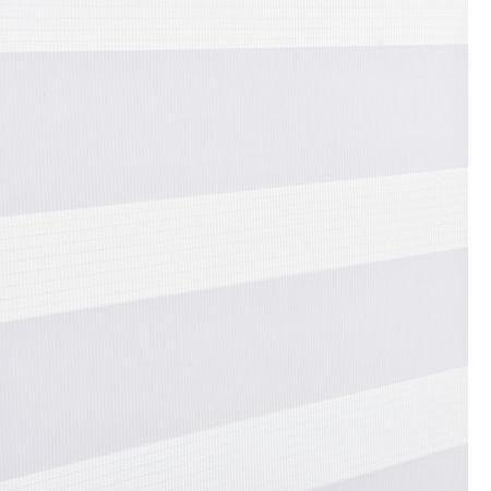 Roleta dubla (zebra) - protectie lumina - jaluzea - fara gaurire (140 x 230cm ) alb