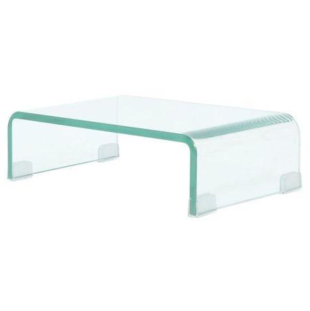Stativ TV/monitor, sticlă transparentă, 40 x 25 x 11 cm