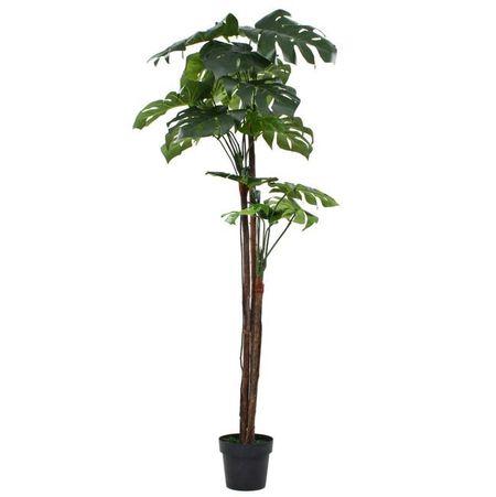 vidaXL Plantă artificială Monstera cu ghiveci 170 cm Verde