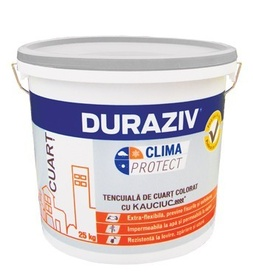 Tencuială de cuarţ colorat DURAZIV Clima Protect cu Kauciuc