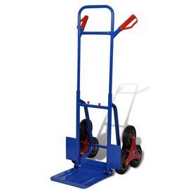 Cărucior pentru transport marfă 6 roți roșu-albastru 150 kg