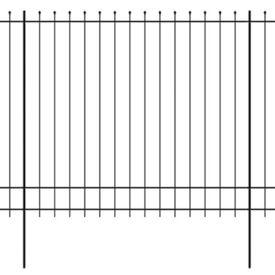 Gard de protecție ornamental cu vârf ascuțit, oțel, 600x200 cm