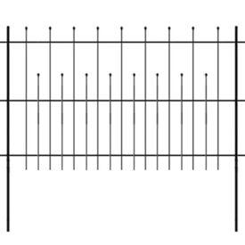 Gard de protecție tip palisadă ornamental, oțel, 600 x 120 cm