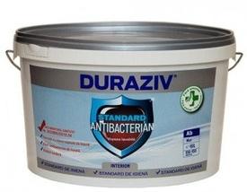 Vopsea lavabilă albă pentru interior DURAZIV Standard Antibacterian - 10 L