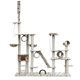 Ansamblu de joacă din sisal de lux 230-260 cm Bej cu lăbuțe de animale
